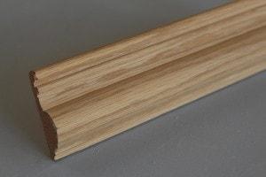 Cymaise traditionnelle chêne massif  16×58 mm - vue 1