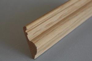 Cymaise traditionnelle chêne massif  16×58 mm - vue 2