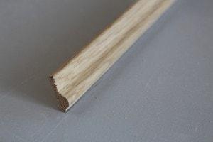Cimaise chêne massif épaisseur : 9 mm ; largeur:  28 mm - vue 2
