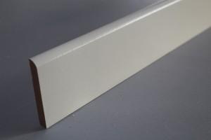 Gamme de plinthes médium décor papier blanc 1 arrondi - vue 1