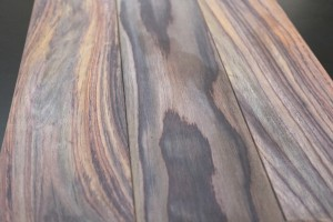 Parquet massif palissandre brut 15 x 120 mm - vue 1