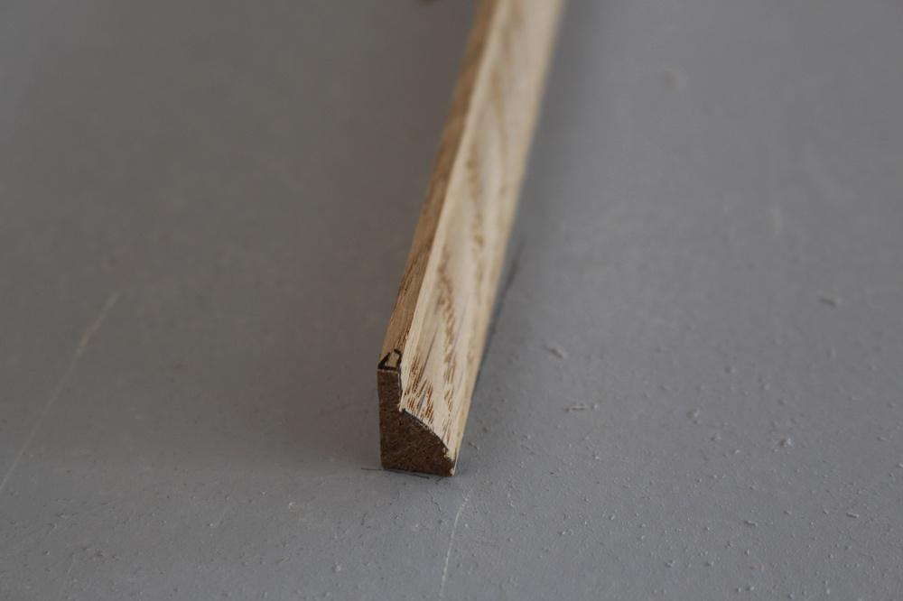 Parclose en ch ne massif 9 x 16 mm for Parclose fenetre