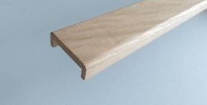 Nez ou alèse de cloison chêne massif 22 x 75 mm pour placoplatre 50 mm - vue 1