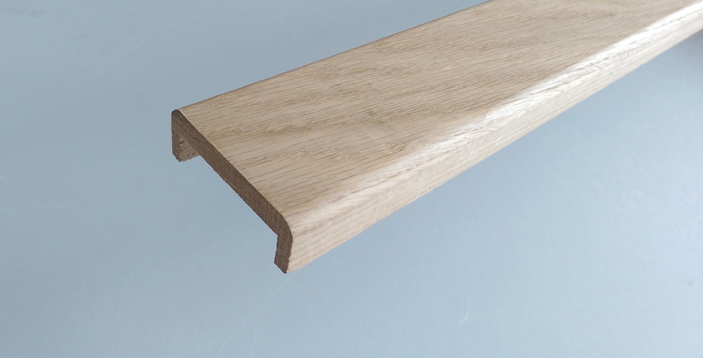 Nez ou alèse de cloison chêne massif 22 x 75 mm pour  ~ Nez De Cloison Bois