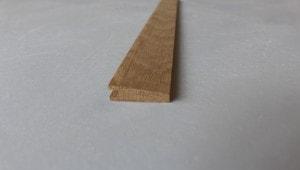 Barre de seuil à la suisse 10 x 35 mm en chêne massif - vue 2