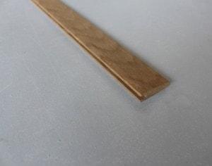 Barre de seuil à la suisse 10 x 35 mm en chêne massif - vue 1