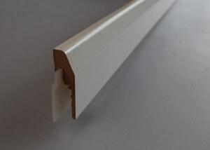 Plinthe electrique cache-fils clipsable en papier blanc - vue 3