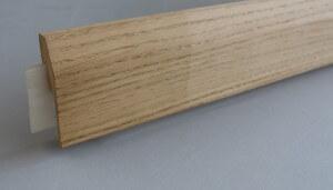 Plinthe électrique clipsable placage chêne - vue 3