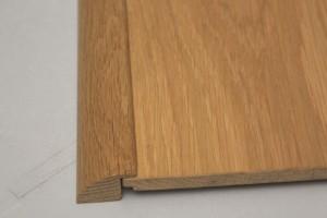 Barre de seuil à recouvrement chêne massif pour parquet en 15 mm d'épaisseur - vue 1
