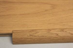 Barre de seuil à recouvrement chêne massif pour parquet en 15 mm d'épaisseur - vue 2
