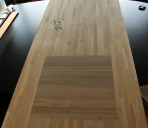 Plan de travail chêne massif table de boucher intégrée - vue 3