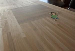 Plan de travail chêne massif table de boucher intégrée - vue 2