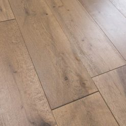 parquet chene massif clipsable marron