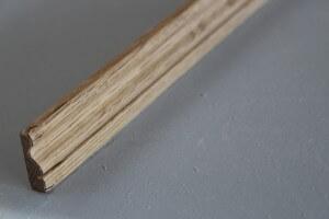 Chambranle classique en chêne , 9 x 29 mm