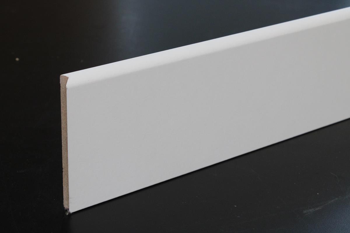 Plinthe Médium Mdf Revêtue Blanc 10 X 100 Mm 1 Bord