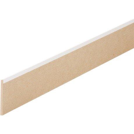 plinthe 16 x 150 blanche bord arrondi