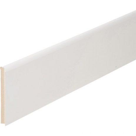 Plinthe Mdium Mdf Revtue Blanc   X  Mm   Bord Arrondi Ou