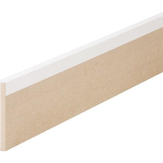 Plinthe Médium Mdf Revêtue Blanc 16 X 150 Mm 1 Bord