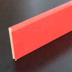 plinthe papier décor rouge