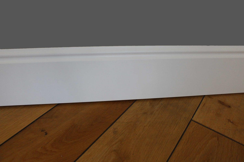 Angle De Plinthe Parquet plinthe moulurée médium (mdf) revêtue blanc - 19 x 120 mm