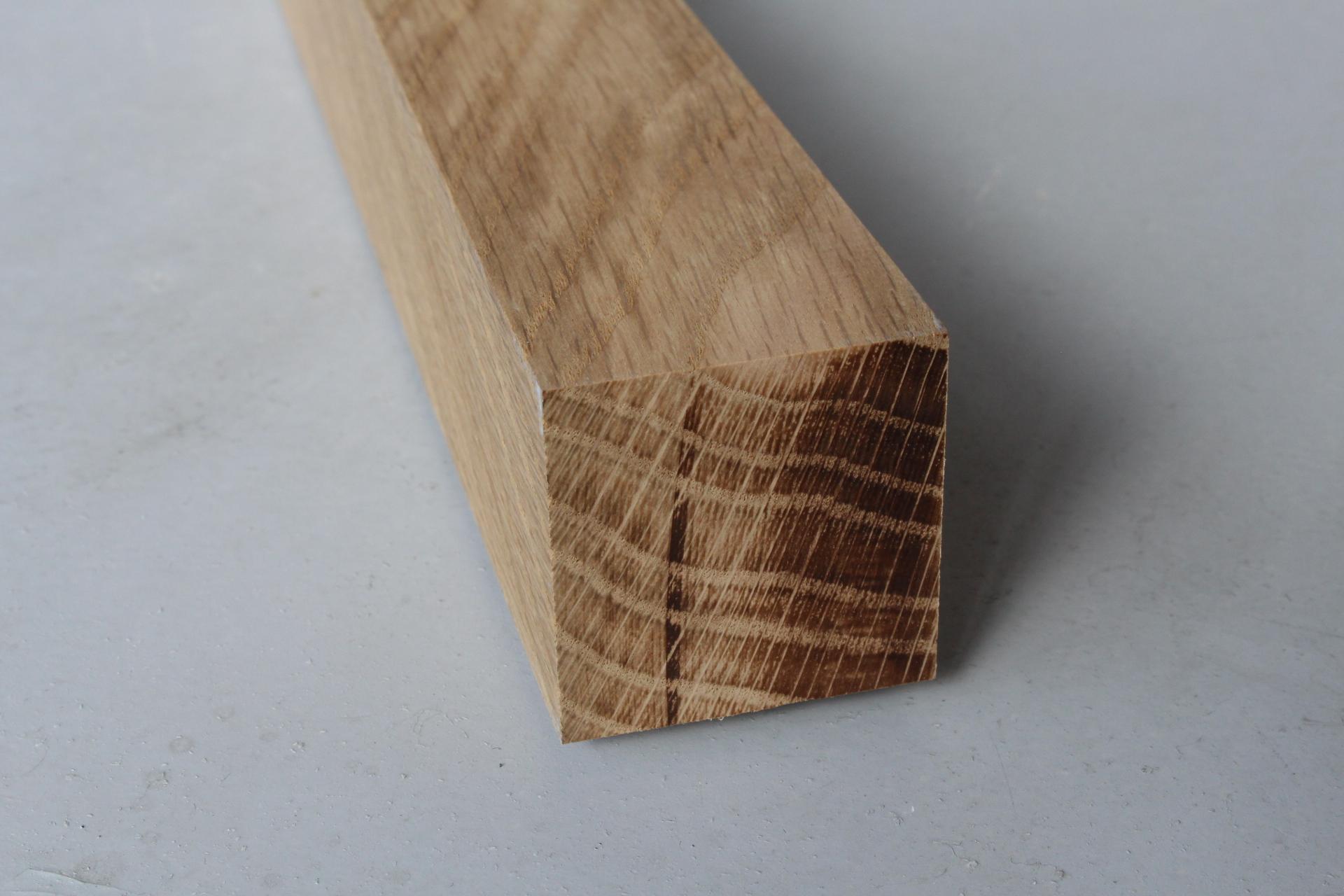 Tasseau Bois Exotique Exterieur tasseau chêne massif - 44 x 44