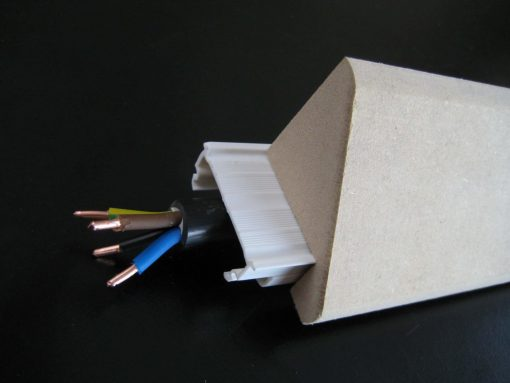 baguette d'angle électrique cache goulotte