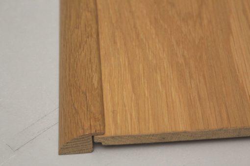 barre de seuil 27 x 25 mm à recouvrement en chêne massif