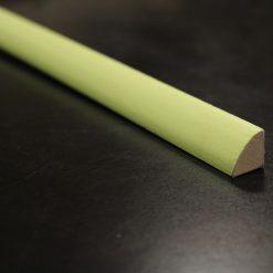 Quart de rond melamine vert pistache