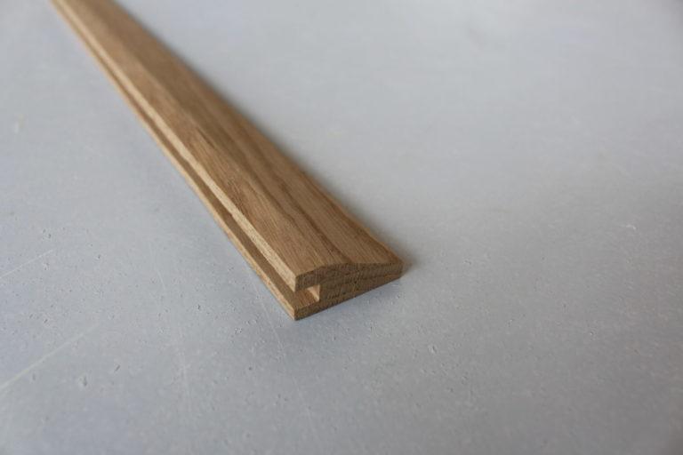 barre de seuil suisse en chene 15 x 35 mm