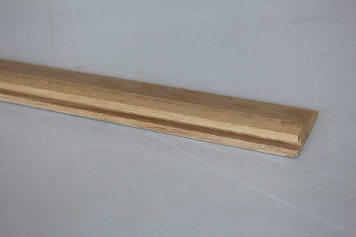 Barre de seuil à la suisse en chêne massif 22 x 70 mm