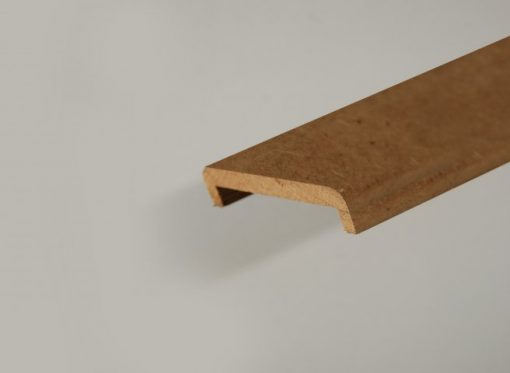 Nez de cloison mdf en 22 x 68 mm