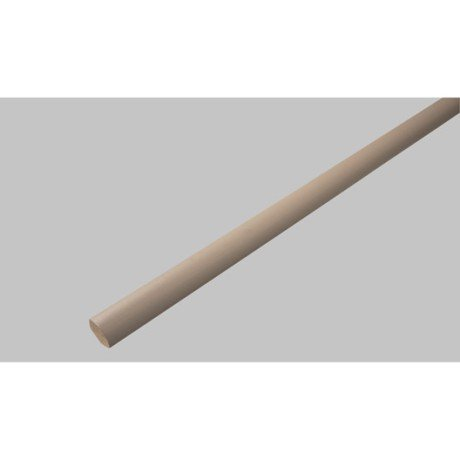 Quart de rond brun taupe 14 x 14 mm