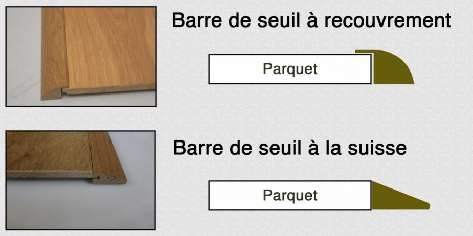 Barre de jonction parquet carrelage s paration parquet for Nettoyage carrelage acide chloridrique