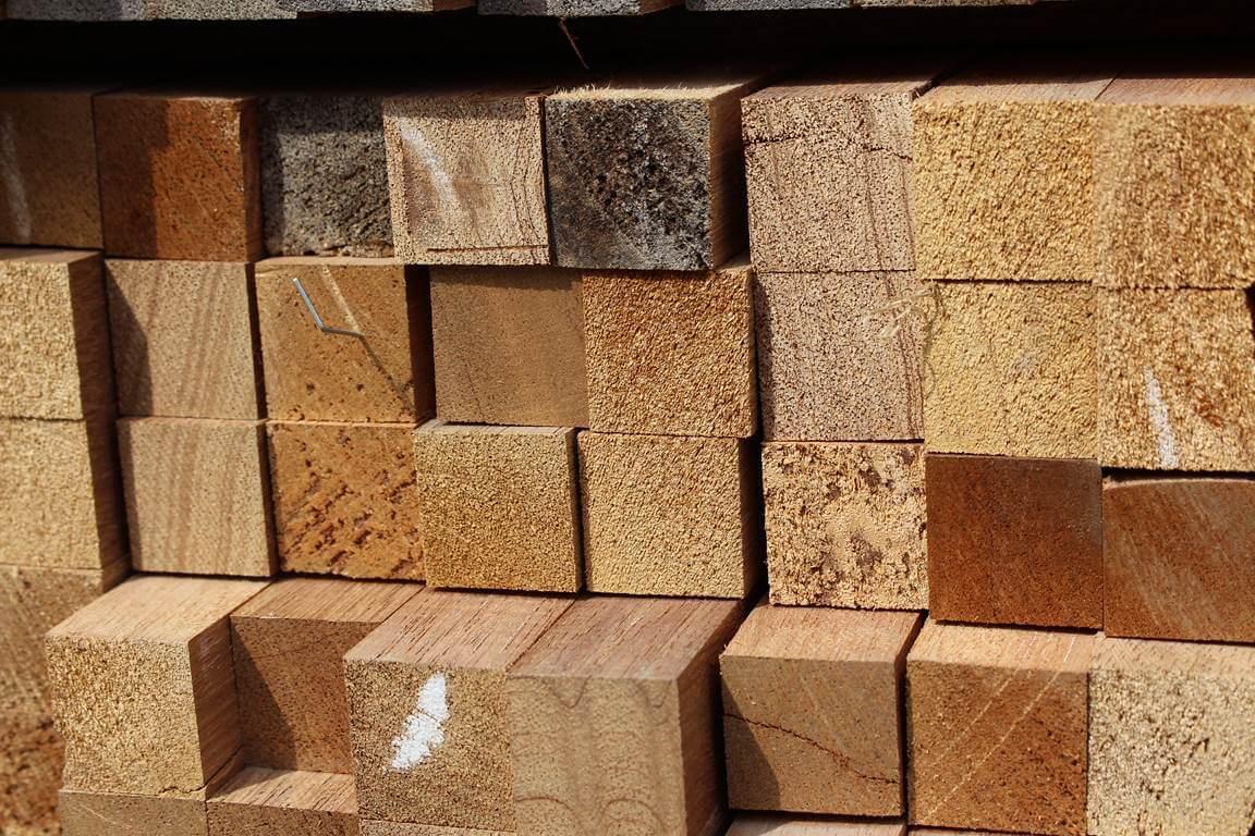 Tasseau Bois Exotique Exterieur déstockage tasseau bois exotique massif - 22 x 22 mm
