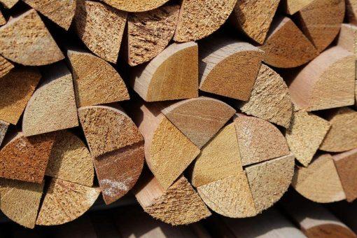 Quart de rond en bois exotique massif 17 x 17 mm
