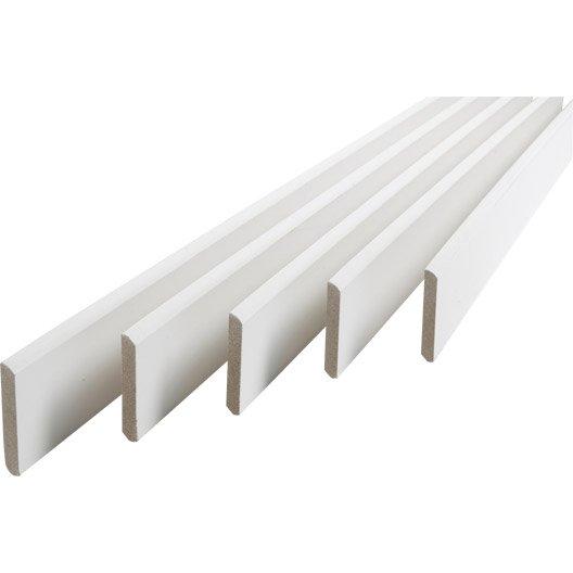 Lot de 5 plinthes médium papier blanc 9 x 95 mm