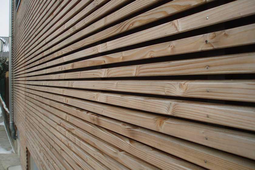 Bardage bois exterieur profil claire voie prix fabricant for Prix bardage bois interieur
