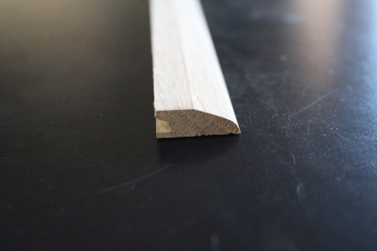 barre de seuil suisse chene massif 9 x 27 mm