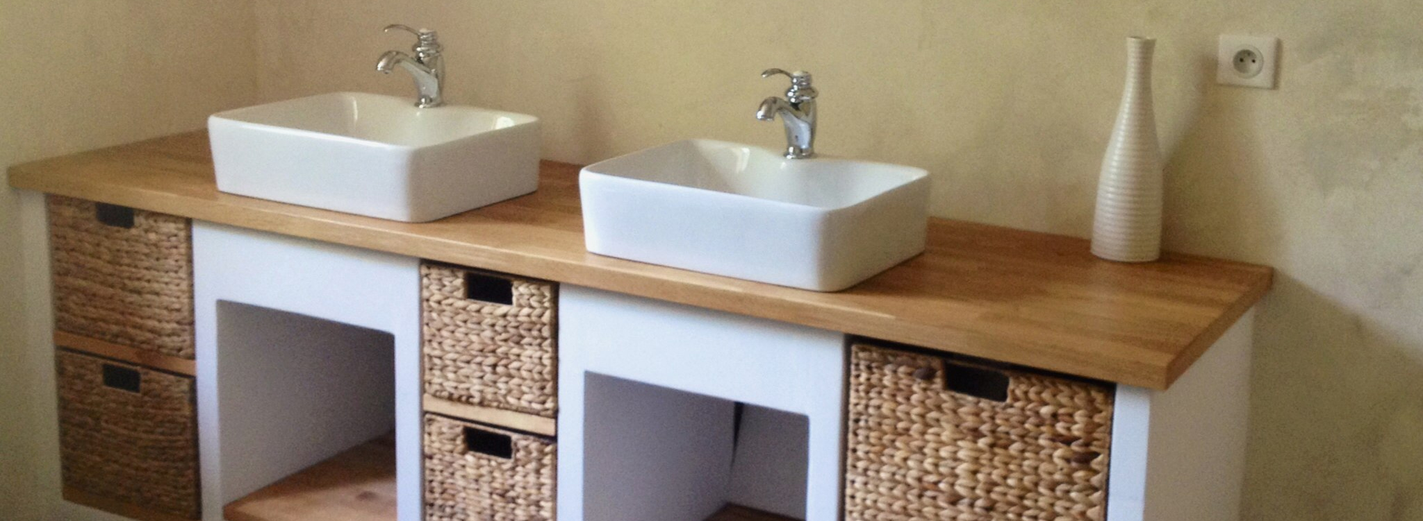 Bois Salle De Bain plan de travail salle de bain : nos conseils pour vous aider