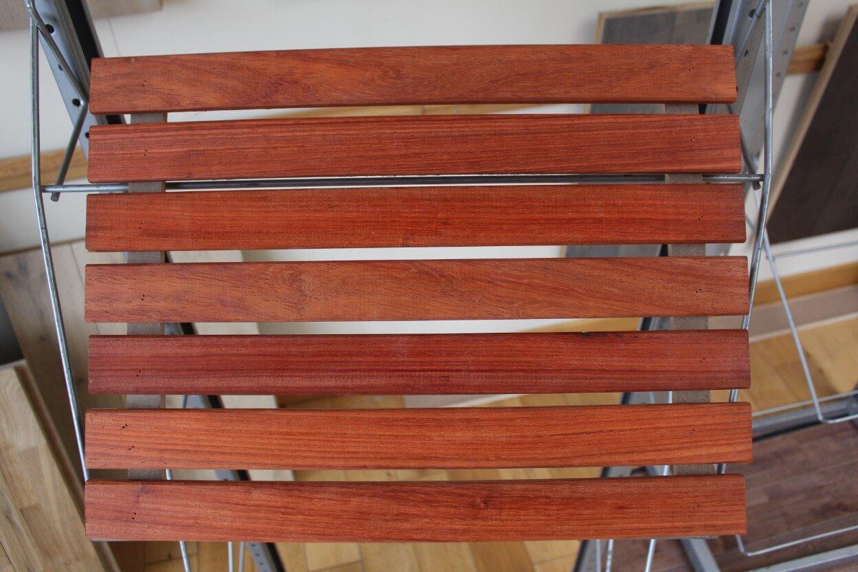 Recouvrir Du Lambris Bois bardage bois b-fix classic en padouk - 21 x 45 mm