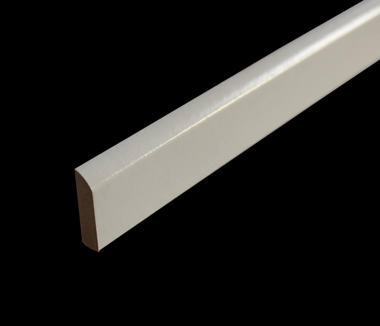 Plinthe Médium Mdf Revêtue Blanc 10 X 35 Mm Bord Arrondi