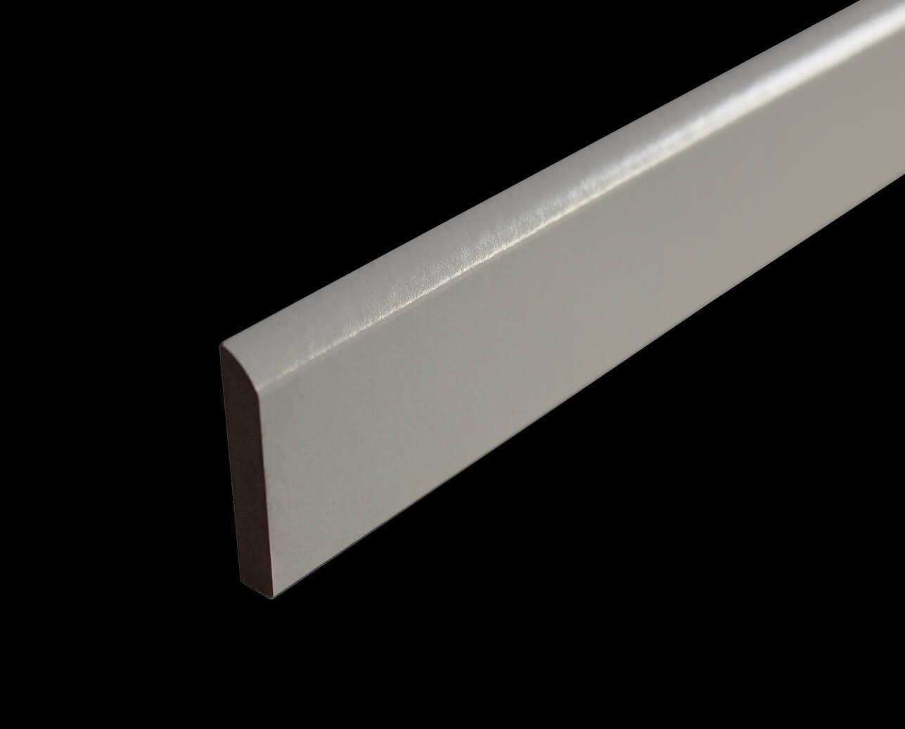 Plinthe Médium Mdf Revêtue Blanc 10 X 50 Mm 1 Bord Arrondi
