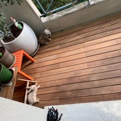 terrasse clipsable teck