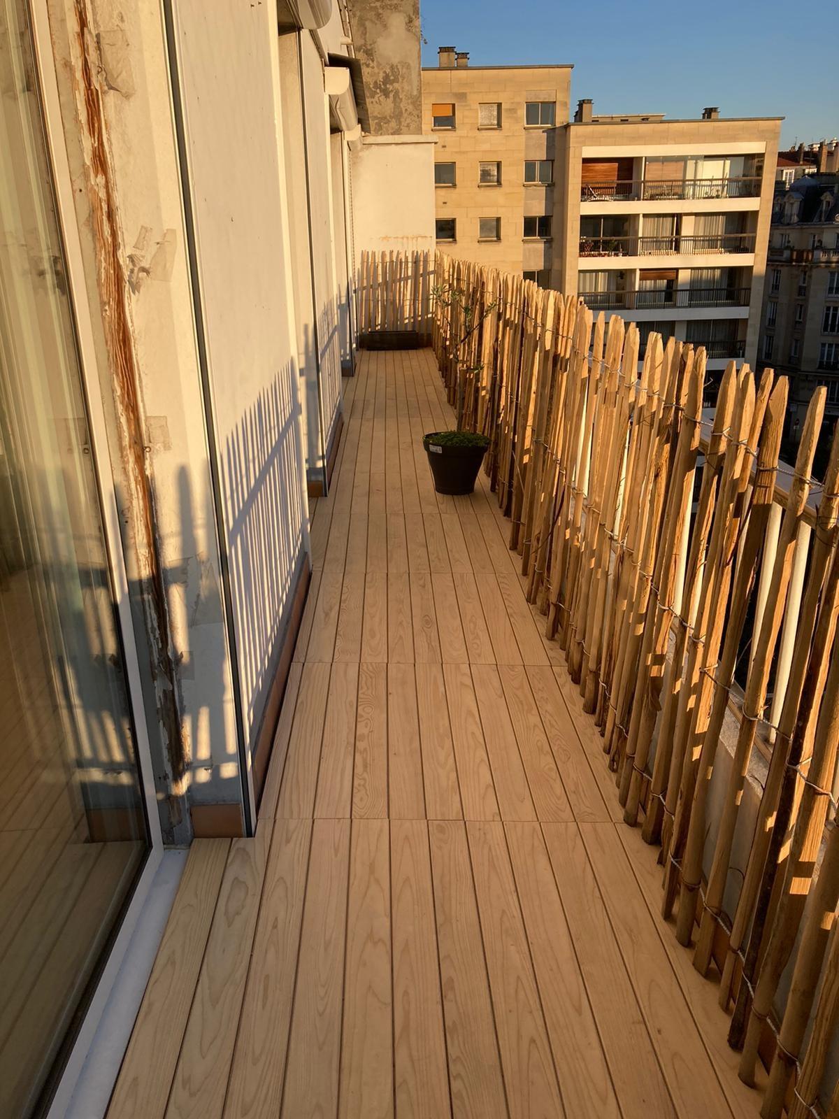 terrasse clipsable en cedre