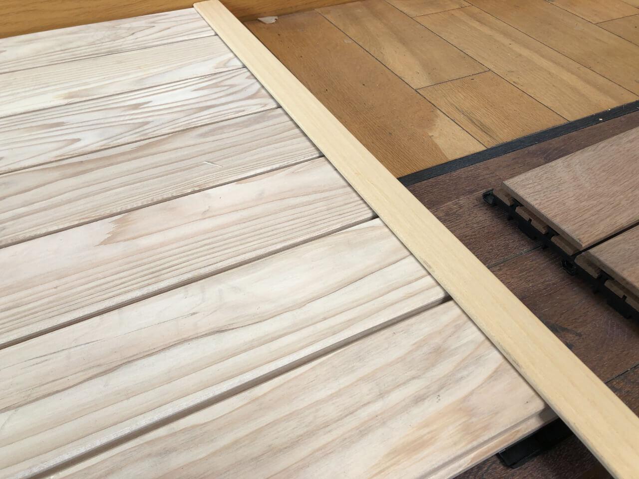 baguette d'angle de finition pour terrasse cèdre